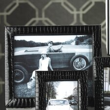 Faux Patent Leather Croc Picture Frame