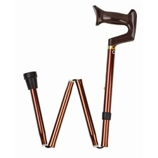 Folding Adjustable Cane with York Handle