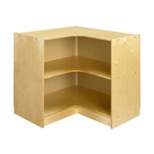 "Cubbie ""L"" Shaped Corner Mobile Storage Unit in Natural"