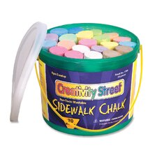"Sidewalk Chalk, Washable/Nontoxic, 20 per Box, 4""x1"", Assorted"