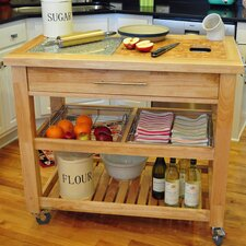Pro Chef Kitchen Cart with Granite Top