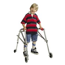 Wide Adolescent's Walker with Silent Wheels and Legs