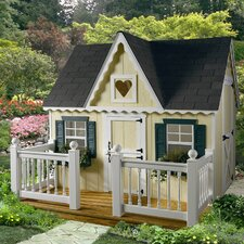 Victorian Playhouse with Front Porch and Railing