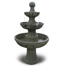 Napa Valley Fiberglass 3 Tiered Fountain