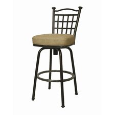 Bay Point Outdoor Barstool - Autumn Rust 30""