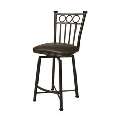 "Bostonian Rust 30"" Swivel Barstool w/ Coffee Fabric"
