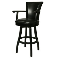 "Glenwood 26"" Leather Barstool with Arms"
