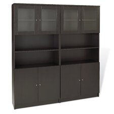 Pro X - Double Bookcase with Hutch Set