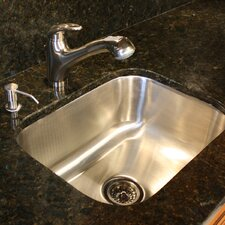 "23"" x 17.75"" 18 Gauge Rectangle Undermount Kitchen Sink"