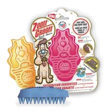 Boysenberry Zoom Groom Brush Dog Toy