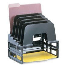 "Incline Sorter With Two Trays, 13-1/2""x9""x14-1/2"", Black"