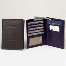 Cowhide Drum-Dyed Nappa Leather Deluxe Passport Case