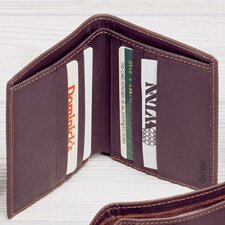 Black Cowhide Nappa Supple Leather Two Fold Wallet III