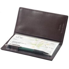 Cowhide Nappa Leather Simplified Checkbook Secretary