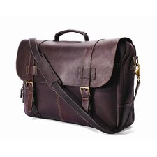 Traditional Flap-Over Laptop Briefcase