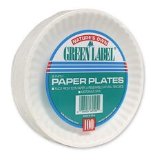 "(1000 Per Container) 6"" Paper Plates in White"