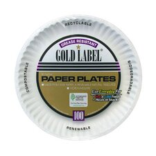 "9"" Coated Paper Plate in White"