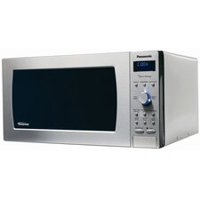 Blue LED Display Microwave Oven in Stainless Steel