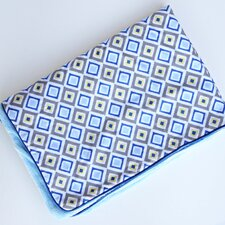 Ikat Diamond Blue Piped Blanket