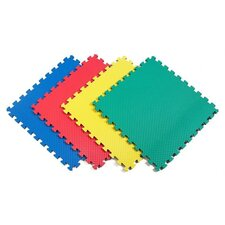Recyclamat Solid Color Foam Mats in Multi-color (Pack of 4)
