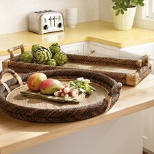Rectangular Rope Top Tray