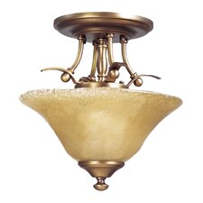 Reverie 2 Light Semi Flush Mount