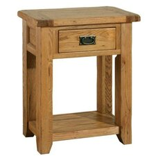 Bordeaux Console Table in Medium Oak Stain and Satin Lacquer