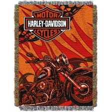 Entertainment Harley Davidson Cycle Tapestry Throw