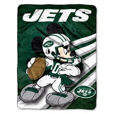 NFL Mickey Mouse Raschel Throw