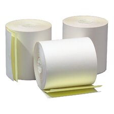 "3"" x 90' 2-Ply Self Contained Adding Machine and Calculator Roll (50 Rolls)"