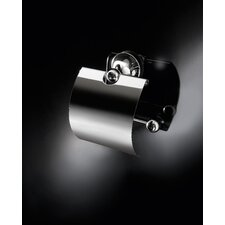Vanessia Toilet Paper Holder with Cover in Polished Chrome