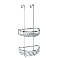 "Filo 9.8"" x 9.5"" Hanging Shower Basket in Polished Chrome"