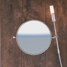 "WS1 Wall-mount Magnifying (5X) Makeup Mirror, 15.9"" Extension"