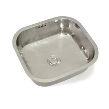 "Cuisine 16.5"" x 15"" Camille Rectangle Hand-Hammered Bar Sink"