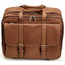Adventure Brown Deluxe Overnighter Wheeled Computer Brief Case