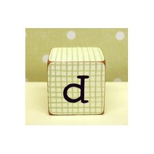 """d"" Letter Block in Green"
