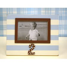 Stripe 2nd Birthday Picture Frame