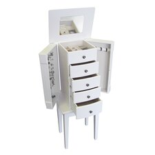 Vanna Jewelry Armoire in White