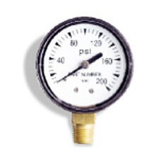"0-100 PSI, 0.13"" Back Pressure Gauge"