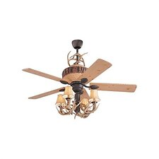 "52"" Great Lodge Pine 5 Blade Ceiling Fan"