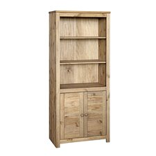 Hacienda 2 Door Bookcase in Waxed Pine