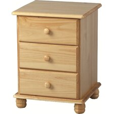 Sol 3 Drawer Bedside Table
