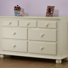 Vista 7 Drawer Double Dresser