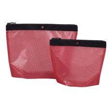 Lifestyle Accessories 3.0 Spill-Resistant Pouch Set in Red