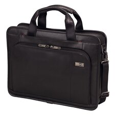 "Architecture® 3.0 Wainwright 15.6"" Slimline Leather Laptop Brief in Black"