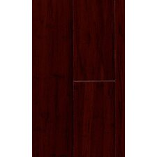 "Natural Bamboo Expressions 5-1/4"" Solid Locking Strand Woven Bamboo Flooring in Handscraped Rich Earth"