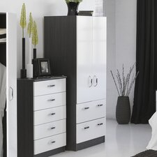 Mode Piano Combi 2 Drawer Wardrobe