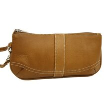 Ladies Large Wristlet in Saddle