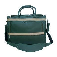 "Traveler 17"" Leather Carry-On Duffel"