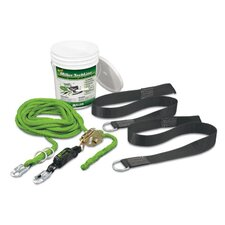 TechLine Temporary Horizontal Lifeline System Kit For Single Worker
